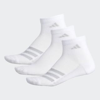 Climacool Superlite Stripe Quarter Socks 3 Pairs White CJ0624