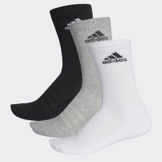 Calcetines 3 Franjas Performance Crew BLACK/MEDIUM GREY HEATHER/WHITE AA2299