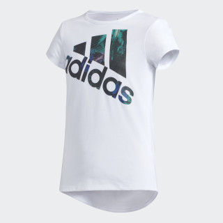 Three Stripe Life Tee White CK7518