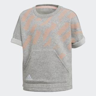 Cotton T-Shirt Medium Grey Heather / Haze Coral / Reflective Silver DJ1467