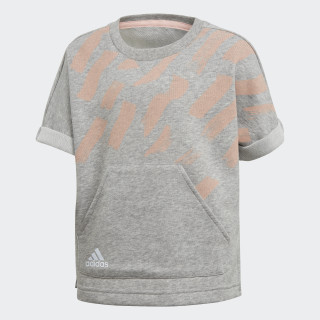 Cotton Tee Medium Grey Heather / Haze Coral / Reflective Silver DJ1467