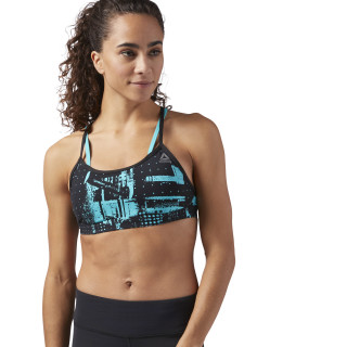 Reebok Hero Strappy Padded Bra - Geocast Solid Teal CG1056