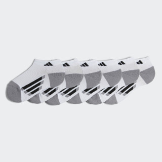 3-Stripes Low Cut Socks 6 Pairs White BH9567