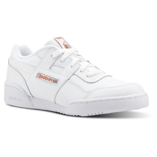 Workout Plus - Grade School White / Bright Lava CN5516