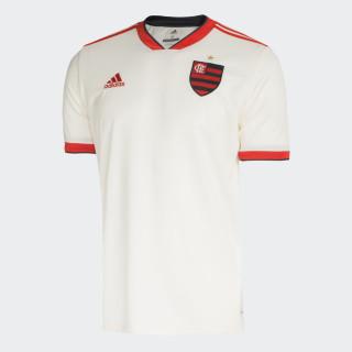Camisa CR Flamengo 2 Oficial CHALK WHITE/HI-RES RED S18/CARBON S18 DJ2721