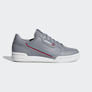 Continental 80 Shoes Grey Three / Hi-Res Aqua / Scarlet F99784