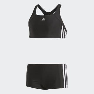 adidas essence core 3 stripes swim bikini youth Black/White BP9479