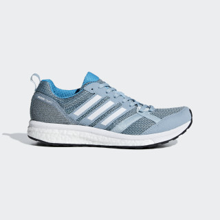 Adizero Tempo 9 Shoes Ash Grey / Cloud White / Shock Cyan B37425