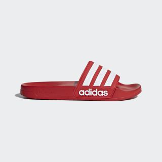 Adilette Cloudfoam Slides Scarlet/Footwear White AQ1705