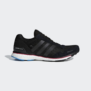 Adizero Adios 3 Shoes Core Black / Real Magenta / Bright Blue AQ0192