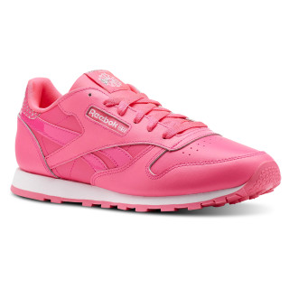 Classic Leather Girl Squad Pack - Grade School Acid Pink / White CN5690