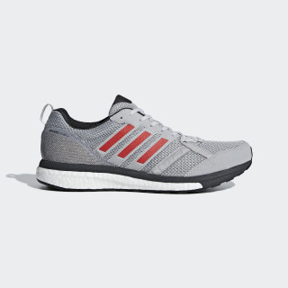 Adizero Tempo 9 Skor Grey Two / Hi-Res Red / Carbon BB6651
