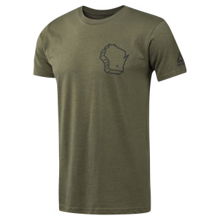 2018 CrossFit Games Crew Neck Tee Army Green CL0757