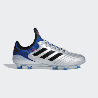 Calzado de Fútbol Copa 18.1 Terreno Firme SILVER MET./CORE BLACK/FOOTBALL BLUE DB2166