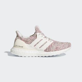 Sapatos Ultraboost Chalk Pearl / Cloud White / Shock Pink BB6496