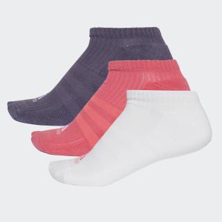 3-Stripes No-Show Sokken 3 Paar Real Pink/White/Trace Purple CF7344