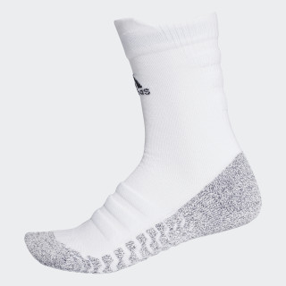 Alphaskin Traxion Lightweight Cushioning Crew CLIMACOOL Socks White/Black CG2674
