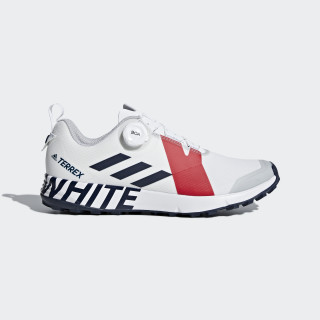 Terrex Two Boa White Mountaineering Shoes Cloud White / Collegiate Navy / Red BB7742