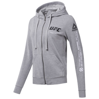 UFC Zip Hoodie Medium Grey Heather CG0658