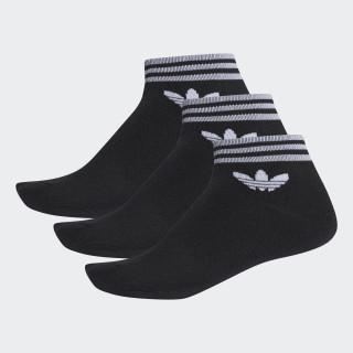 Trefoil Ankle Socken, 3 Paar Black AZ5523