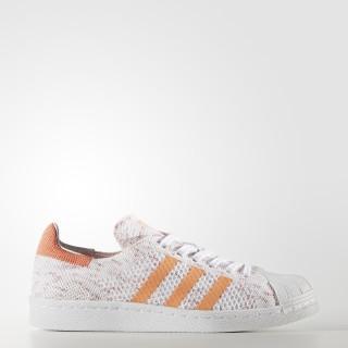 Superstar 80s Primeknit Schuh Semi Flash Orange/Footwear White/Collegiate Burgundy BY9206