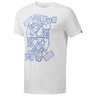 King of Training Graphic T-Shirt White CF3842