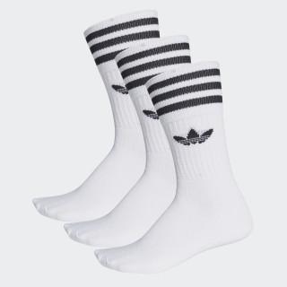 Chaussettes mi-mollet (3 paires) White/Black S21489