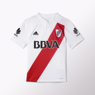 Camiseta Titular River Plate Réplica WHITE/LGH SOLID GREY/COLLEGIATE RED BJ8922