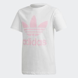 Camiseta Trefoil WHITE/LIGHT PINK DH2475