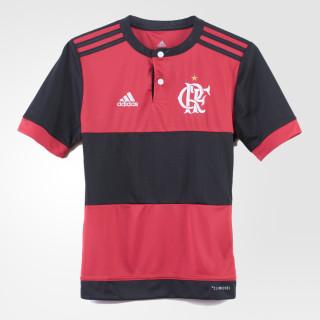 Camisa Flamengo 1 Infantil BLACK/COLLEGIATE RED BK7102