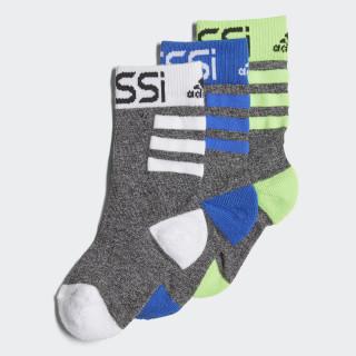 Messi Sokken 3 Paar Black / Solar Green / Blue / White DJ2255