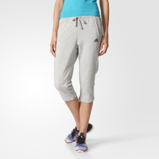 Essentials Log Three Quarter Pants Medium Grey Heather / Black S97163