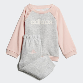 Linear Fleece joggingdragt Light Grey Heather / Haze Coral / White DJ1575