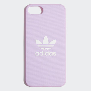 Fabric Snap Case iPhone 8 Clear Pink / White CK6183