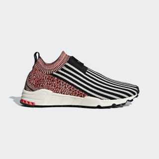 EQT Support Sock Primeknit Shoes Core Black / Clear Brown / Trace Scarlet B37532