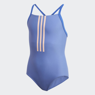 Back-To-School 3-Stripes Swimsuit Real Lilac / Clear Orange DL8878