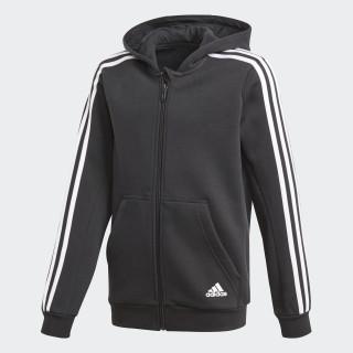 Essentials 3-Stripes hættetrøje Black/White CF6582