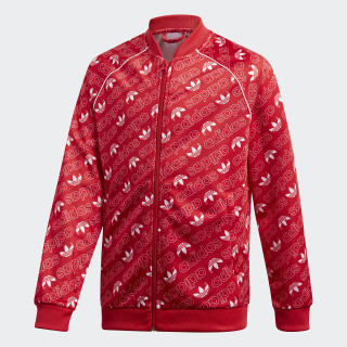 Trefoil Monogram SST Track Jacket Collegiate Red / White DI0263