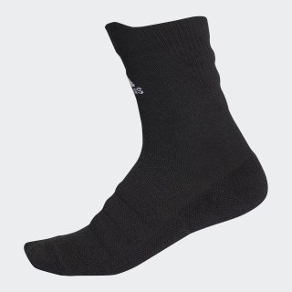 Alphaskin Lightweight Cushioning Crew CLIMACOOL Socks Black/White CV7428