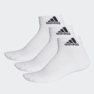 3-Stripes Performance Ankle Socks 3 Pairs White/Black AA2285