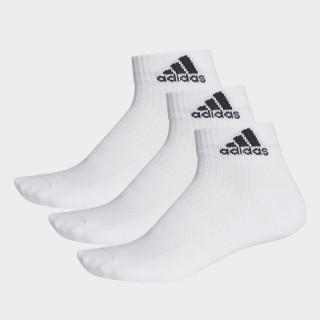 Meia Ankle Mid Cushion 3S - 3 Pares WHITE/WHITE/BLACK AA2285