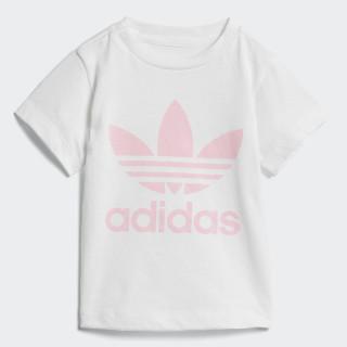 Trefoil T-Shirt White / Light Pink D96102