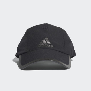 Czapka do biegania Climalite Black/Black/Black Reflective CF9630