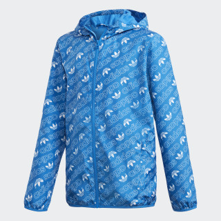 Monogram Trefoil Windbreaker Bluebird / White DH2698