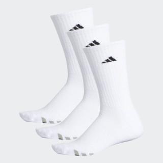 Climalite Cushioned Crew Socks 3 Pairs White / Black / Granite H77456