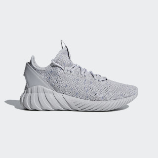 Tubular Doom Sock Primeknit Shoes Grey / Cloud White / Hi-Res Blue CG5512