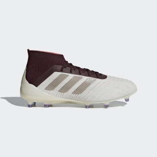 Predator 18.1 Firm Ground Cleats Talc / Grey / Maroon DB2509
