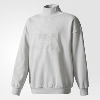 Trefoil French Terry Crew Sweatshirt Grey Two BQ3958