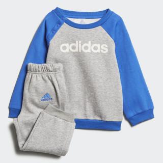 Linear Fleece joggingdragt Medium Grey Heather / Blue / White DJ1569
