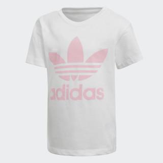 Camiseta Trefoil White / Light Pink DH2464